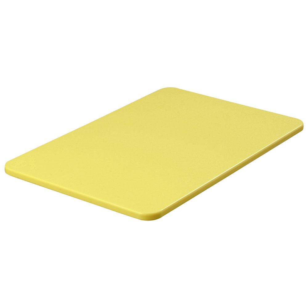 """Carlisle 1088204 Poly Cutting Board - 12x18x1/2"""" Yellow"""