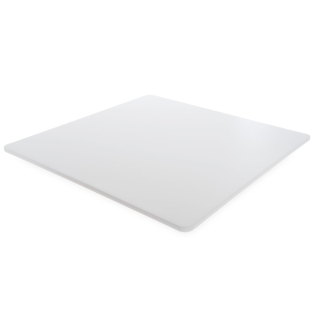 "Carlisle 1089702 Poly Cutting Board - 24x24x1/2"" White"