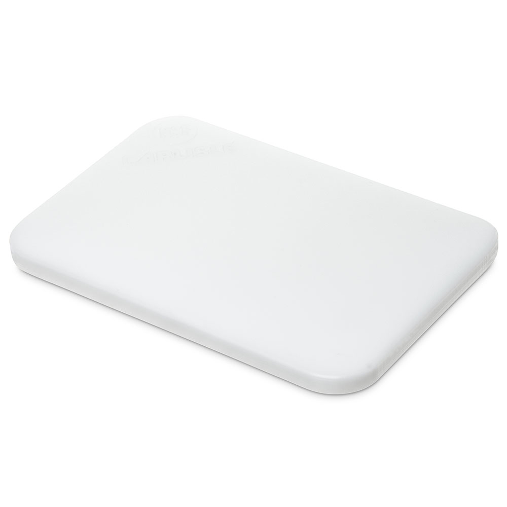 Carlisle Food Service 1090102 High Density Polyethylene Cutting Board 6x9x.5-in NSF White Restaurant Supply