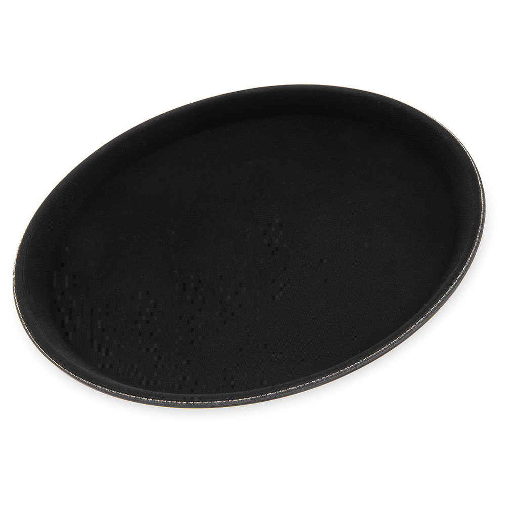 "Carlisle 1100GL004 11-1/4"" Round Serving Tray - Rubber Liner, Black"