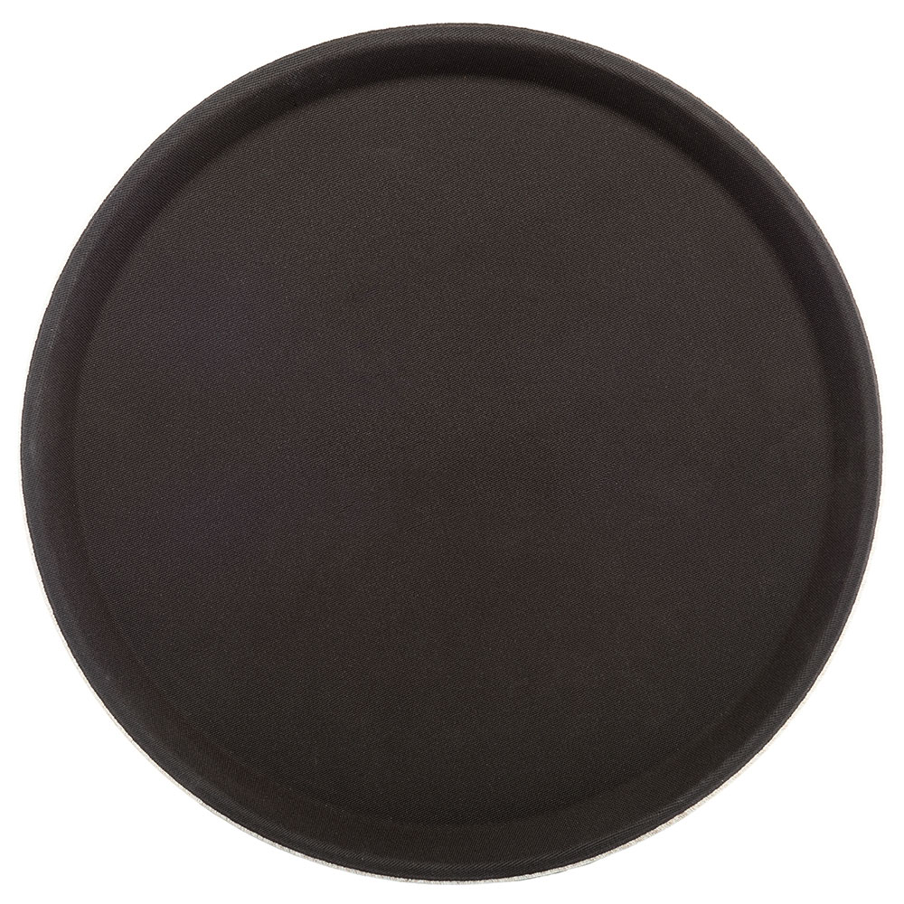 "Carlisle 1100GL076 11-1/4"" Round Serving Tray - Rubber Liner, Tan"