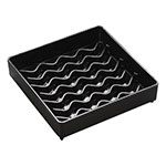 "Carlisle 1102003 4"" Square Drip Tray - Black"
