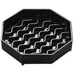 "Carlisle 1103003 4-3/8"" Octagonal Drip Tray - Black"