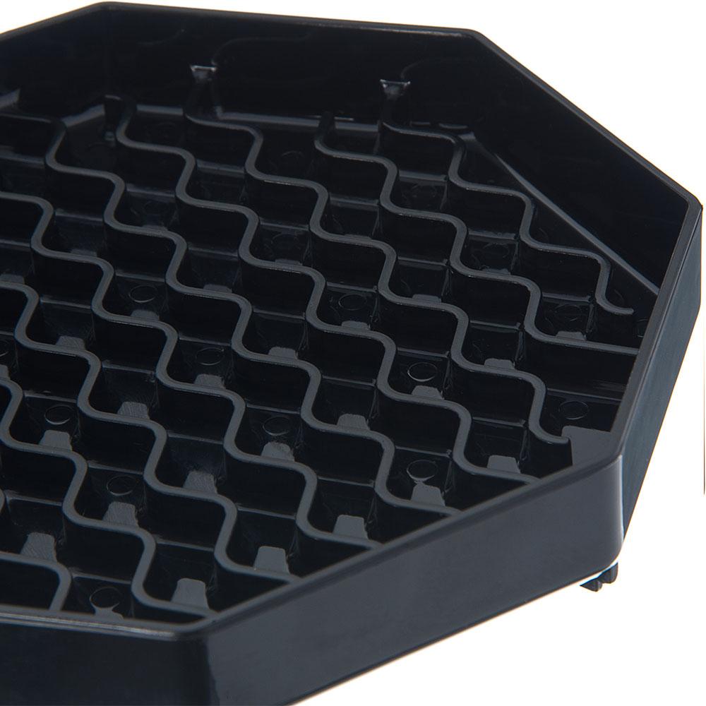 "Carlisle 1103603 6-1/2"" Octagonal Drip Tray - Black"
