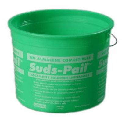 Carlisle 1182609 5-qt Sanitizer Pail w/ Instructions Green Plastic Restaurant Supply