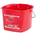 Carlisle 1183005 8-qt Square Sanitizing Pail - Red