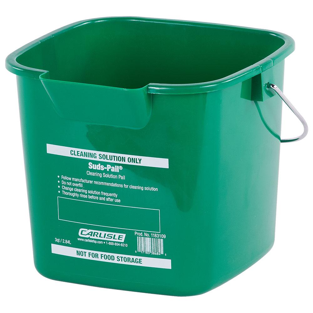 Carlisle 1183109 3-qt Square Cleaning Pail - Green