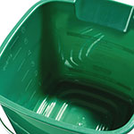 Carlisle 1183209 6-qt Square Cleaning Pail - Green