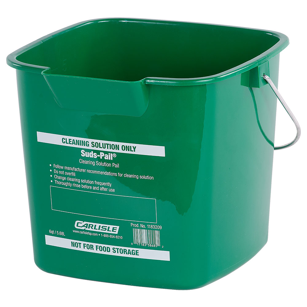 Carlisle 1183209 6-qt Square Cleaning Pail - Green