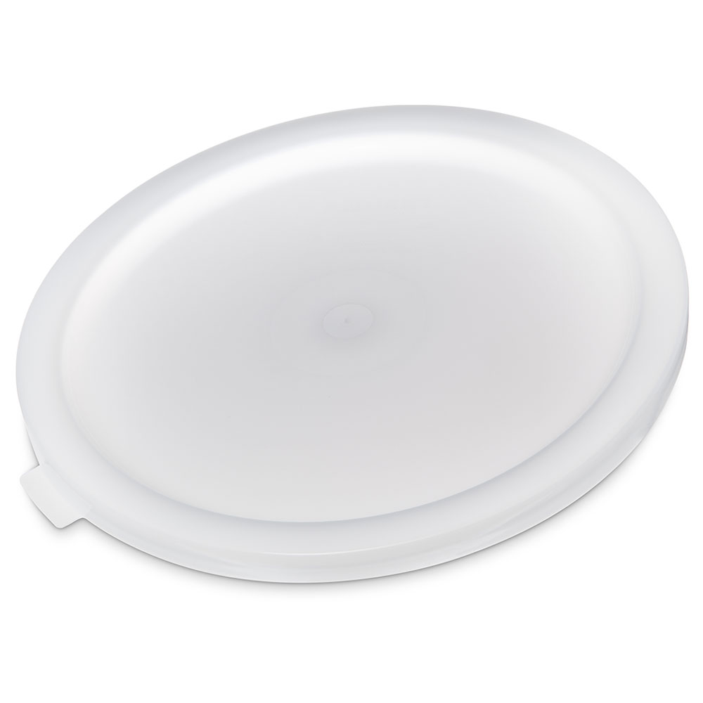 Carlisle 120202 Bain Marie Food Storage Lid, 12, 18 & 22-qt, Polyethylene, White