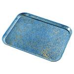 Carlisle 1212DFG029 Rectangular Cafeteria Tray - 32.5x26.5cm, Starfire Blue