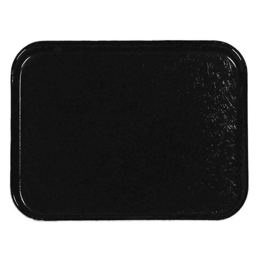 Carlisle 1212FG004 Rectangular Cafeteria Tray - 32.5x26.5cm, Black