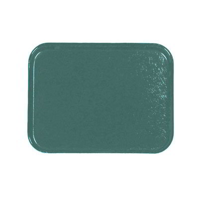 Carlisle 1212FG010 Rectangular Cafeteria Tray - 32.5x26.5cm, Forest Green