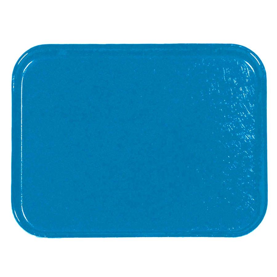 Carlisle 1212FG013 Rectangular Cafeteria Tray - 32.5x26.5cm, Ice Blue
