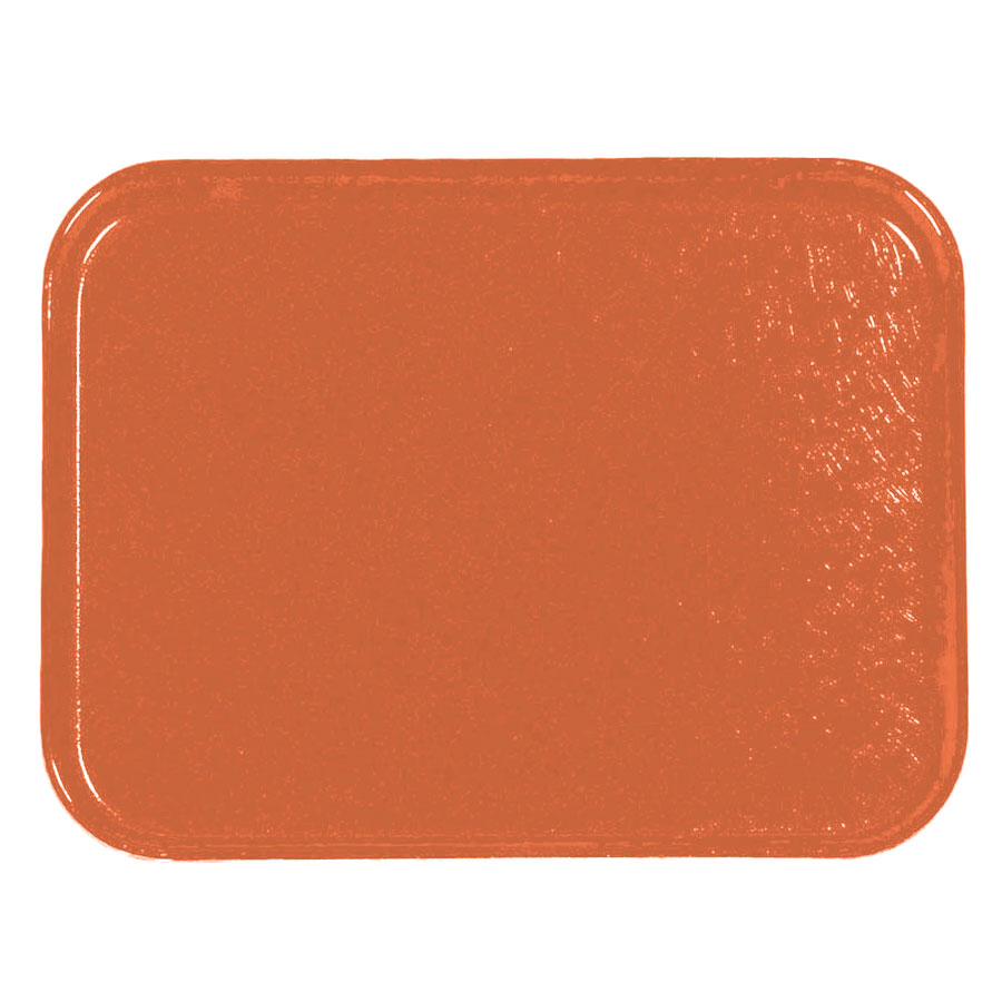 Carlisle 1212FG018 Rectangular Cafeteria Tray - 32.5x26.5cm, Orange