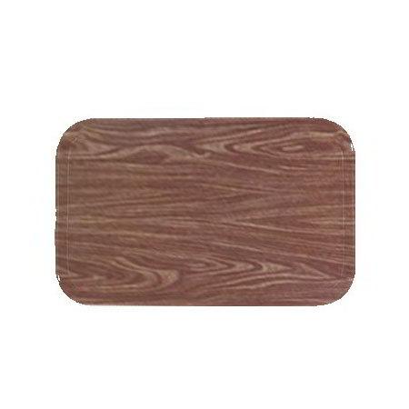 Carlisle 1212WFG063 Rectangular Cafeteria Tray - 32.5x26.5cm, Pecan Woodgrain