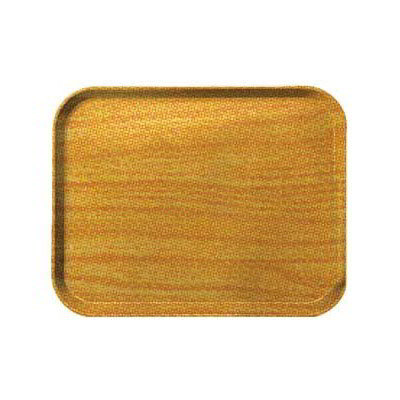 Carlisle 1212WFG065 Rectangular Cafeteria Tray - 32.5x26.5cm, Light Oak Woodgrain