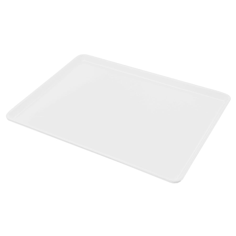 "Carlisle 1216LFG001 Rectangular Cafeteria Tray - Low-Edge, 16-3/8x12"" Bone White"