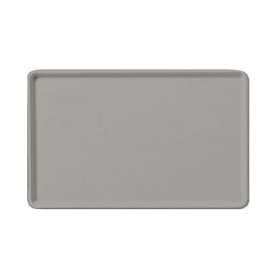 "Carlisle 1216LFG002 Rectangular Cafeteria Tray - Low-Edge, 16-3/8x12"" Smoke Gray"