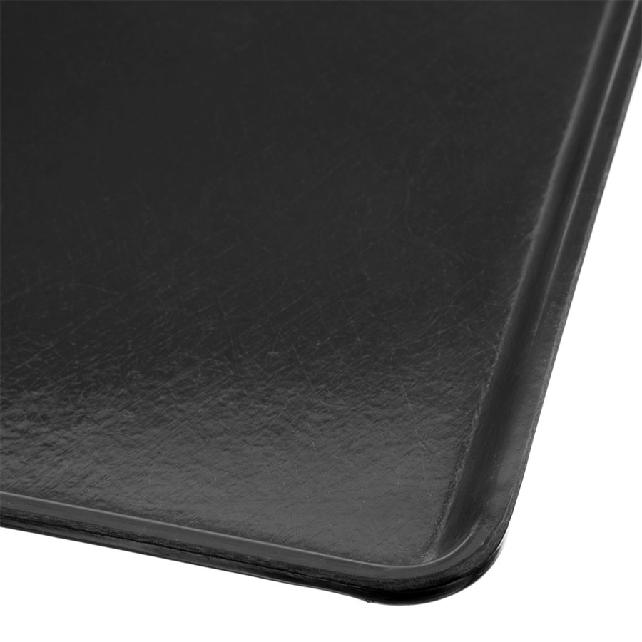 "Carlisle 1216LFG004 Rectangular Cafeteria Tray - Low-Edge, 16-3/8x12"" Black"