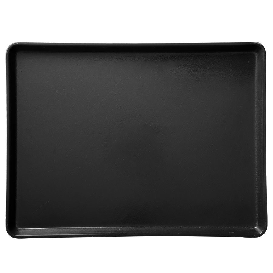 "Carlisle 1216LFG004 Rectangular Cafeteria Tray - Low-Edge, 16-3/8x12"" Black"