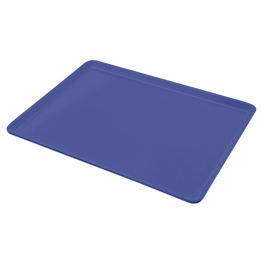 "Carlisle 1216LFG015 Rectangular Cafeteria Tray - Low-Edge, 16-3/8x12"" Navy"