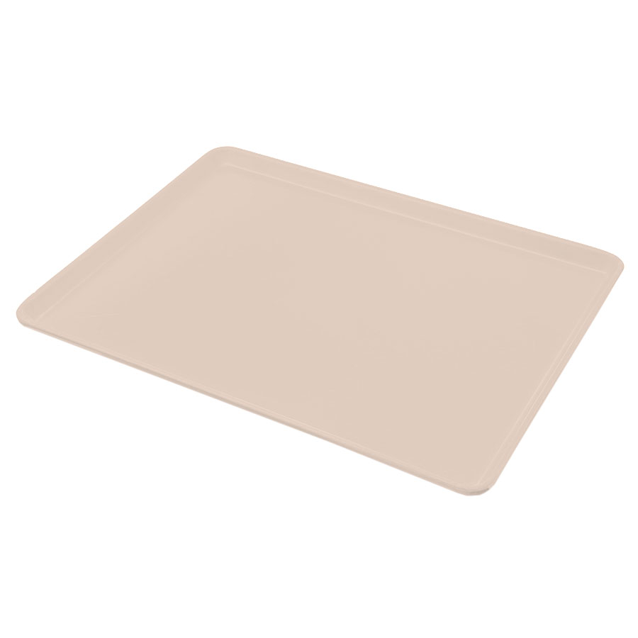 "Carlisle 1216LFG016 Rectangular Cafeteria Tray - Low-Edge, 16-3/8x12"" Peach"