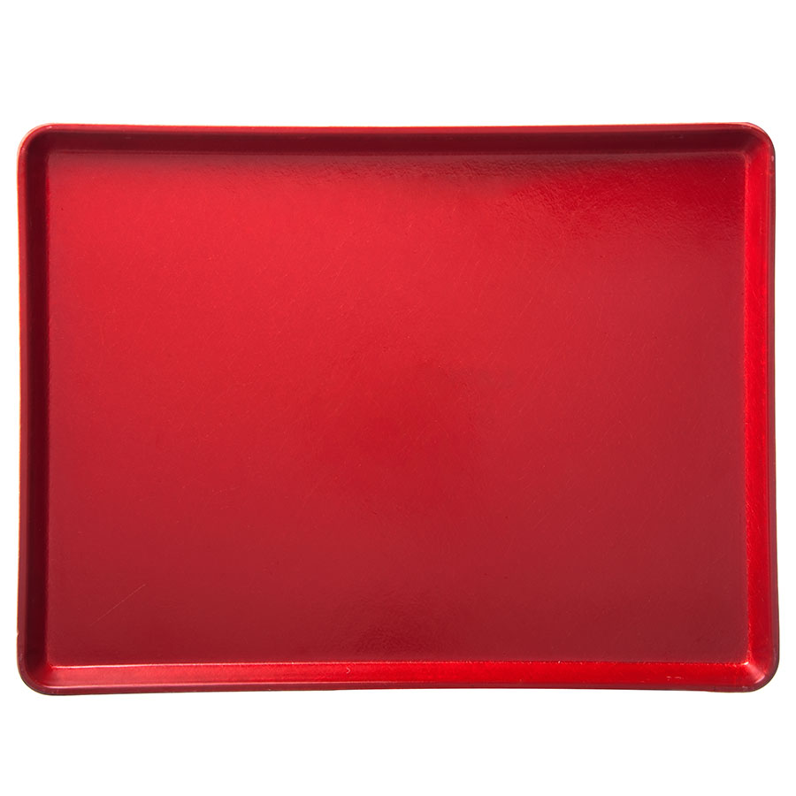 "Carlisle 1216LFG017 Rectangular Cafeteria Tray - Low-Edge, 16-3/8x12"" Red"