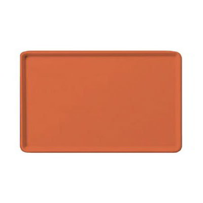 "Carlisle 1216LFG018 Rectangular Cafeteria Tray - Low-Edge, 16-3/8x12"" Orange"