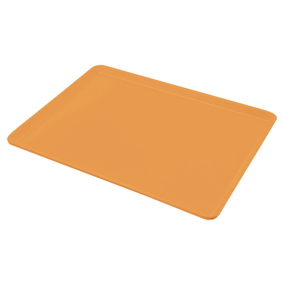 "Carlisle 1216LFG019 Rectangular Cafeteria Tray - Low-Edge, 16-3/8x12"" Rust"