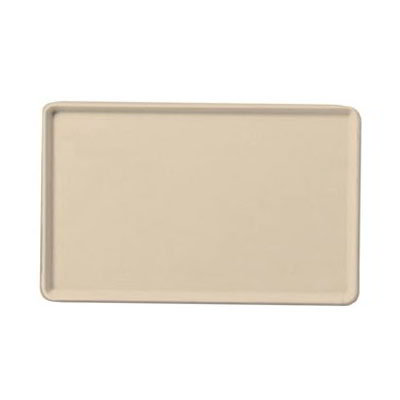 "Carlisle 1216LFG025 Rectangular Cafeteria Tray - Low-Edge, 16-3/8x12"" Beige"