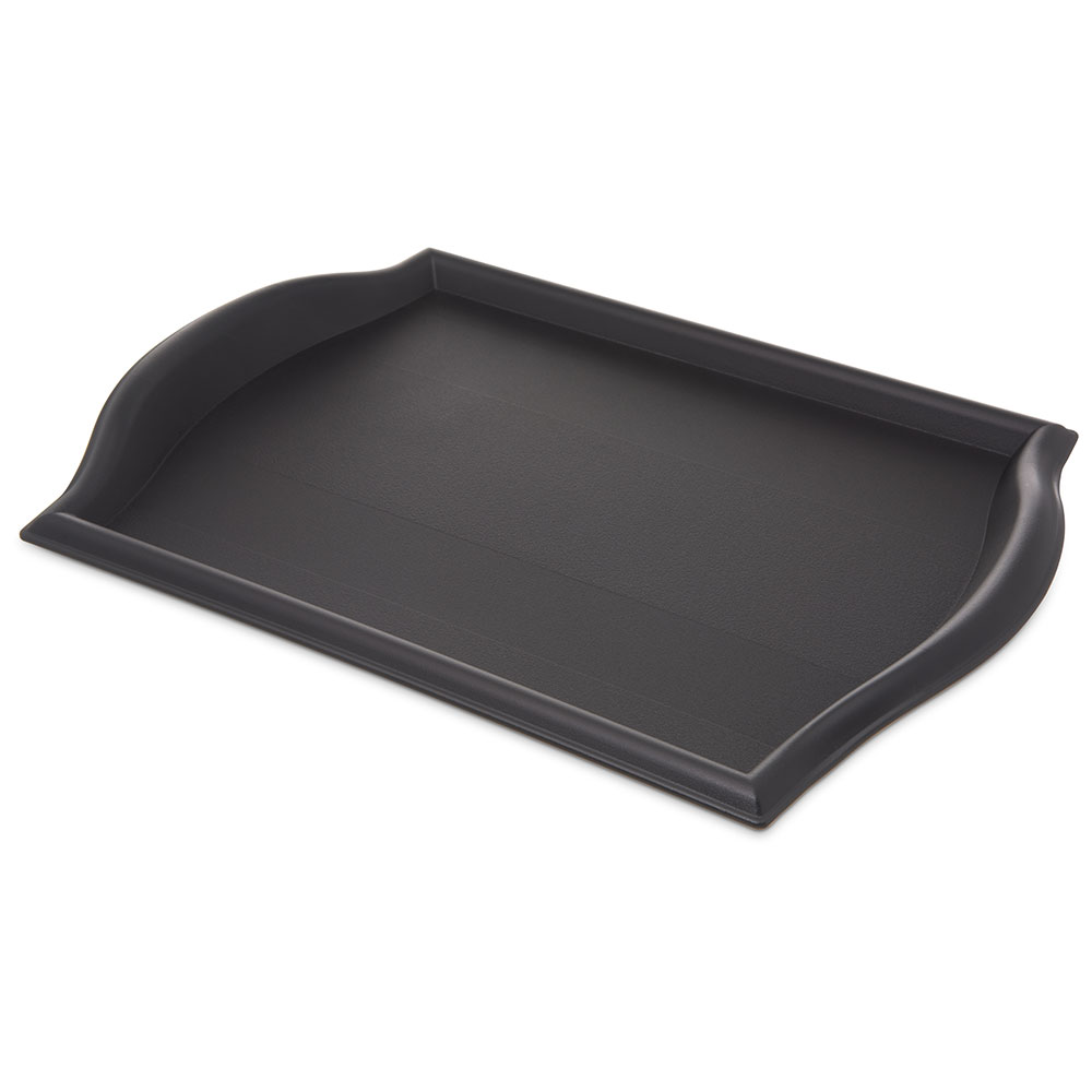 "Carlisle 1217BT03 Rectangular Bistro Tray - 17x12"" Black"