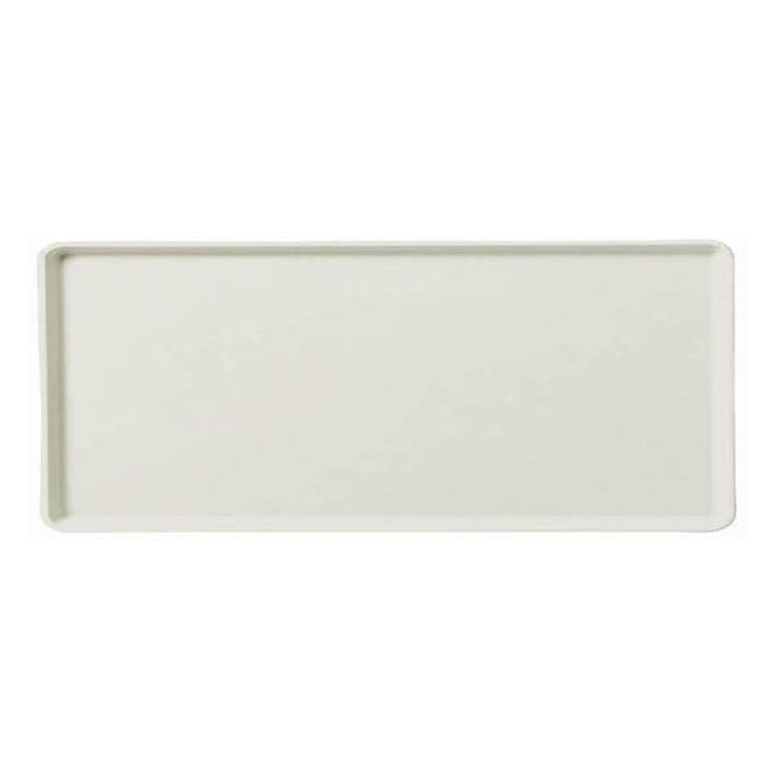 "Carlisle 1219LFG001 Rectangular Cafeteria Tray - 19x12"" Bone White"