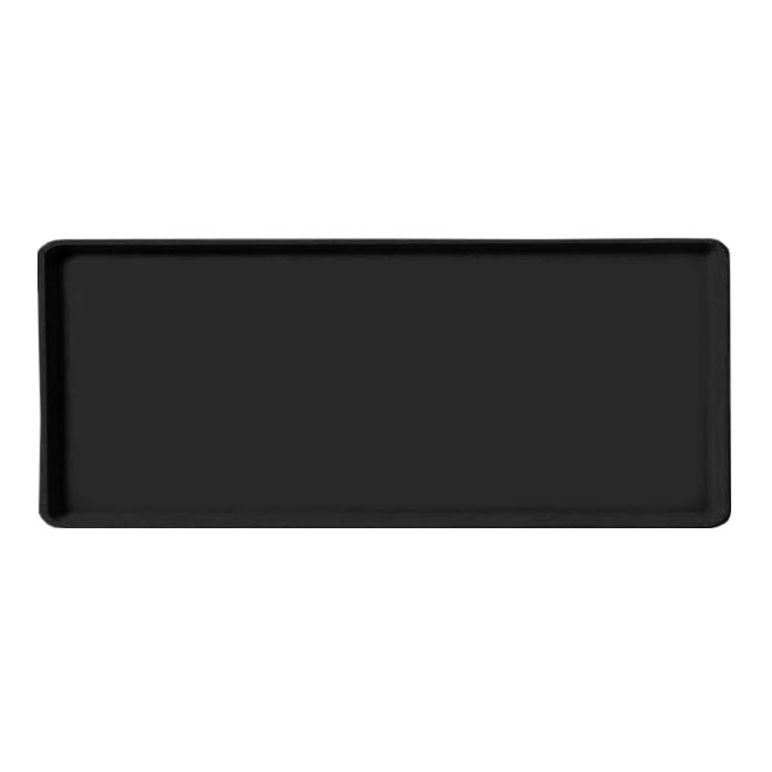 "Carlisle 1219LFG004 Rectangular Cafeteria Tray - 19x12"" Black"