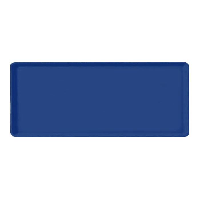 "Carlisle 1219LFG050 Rectangular Cafeteria Tray - 19x12"" Sapphire Blue"