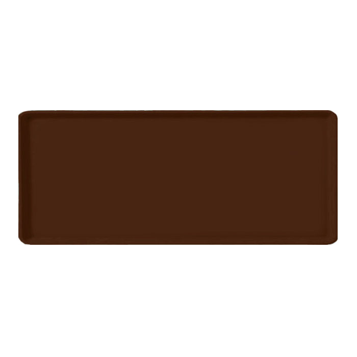 "Carlisle 1219LFG127 Rectangular Cafeteria Tray - 19x12"" Chocolate"