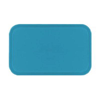 Carlisle 1220FG011 Rectangular Cafeteria Tray - 53cmx32.5cm, Turquoise