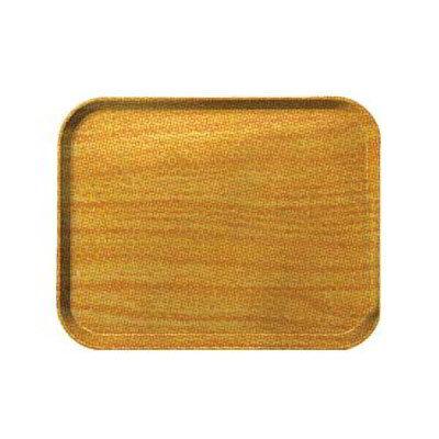 Carlisle 1220WFG065 Rectangular Cafeteria Tray - 53cmx32.5cm, Light Oak Woodgrain