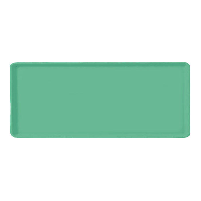 "Carlisle 1222LFG007 Rectangular Cafeteria Tray - 21x12"" Tropical Green"