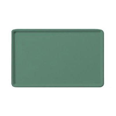 """Carlisle 1222LFG053 Rectangular Cafeteria Tray - 21x12"""" Jade"""