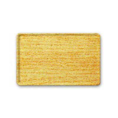 "Carlisle 1222LWFG065 Rectangular Cafeteria Tray - 21x12"" Light Oak Woodgrain"