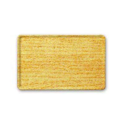 "Carlisle 1222LWFG065 Rectangular Cafeteria Tray - 21x12"" Light Oak Woodgrain"