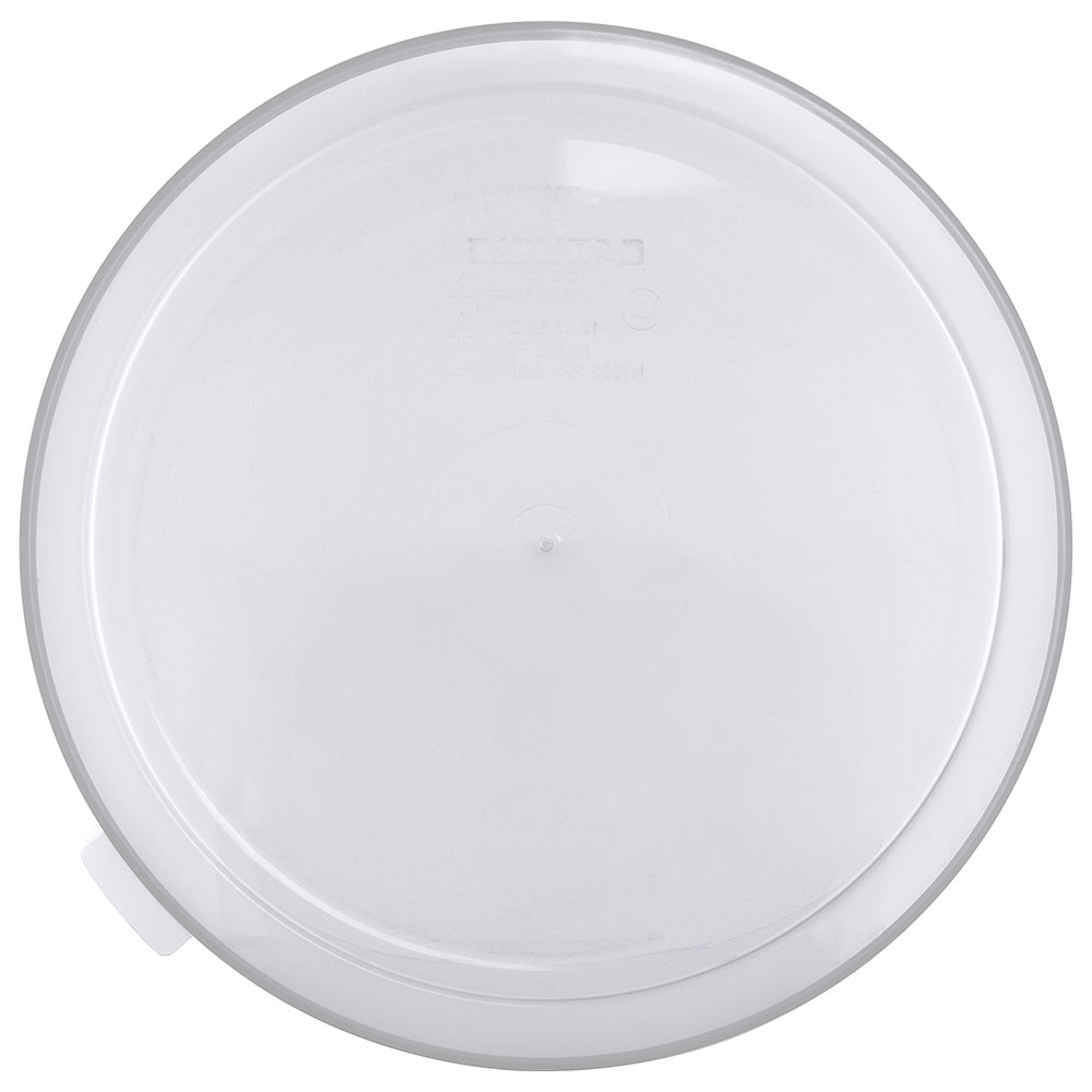 Carlisle 125330 3/5-gal Round Dispenser Lid - Clear