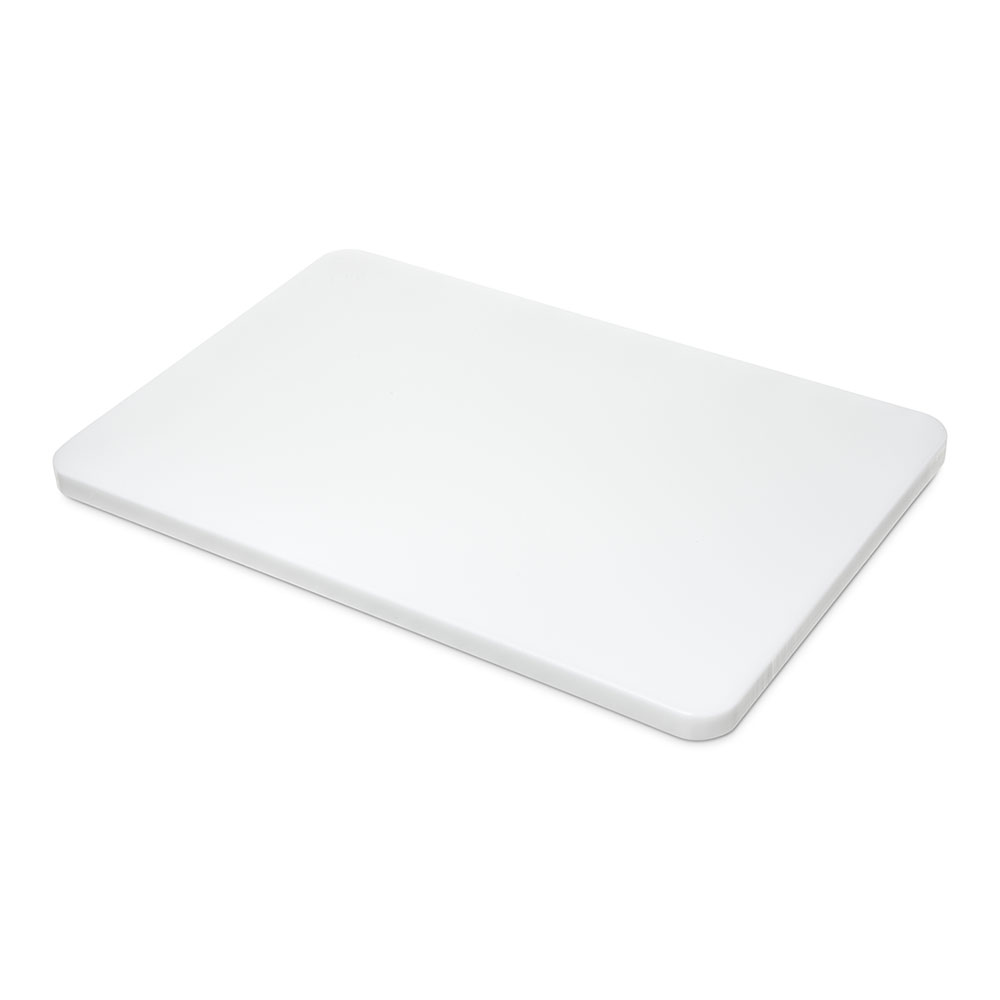 "Carlisle 1288102 Poly Cutting Board - 12x18x3/4"" White"