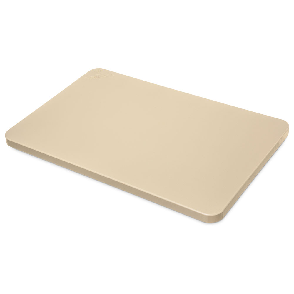 "Carlisle 1288225 Poly Cutting Board - 12x18x3/4"" Tan"