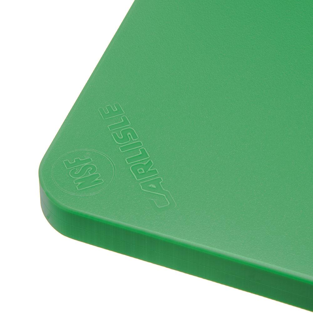 """Carlisle 1288709 Poly Cutting Board - 15x20x3/4"""" Green"""