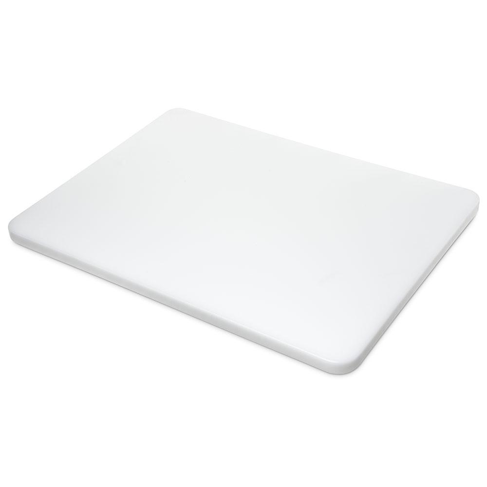 "Carlisle 1289102 Poly Cutting Board - 18x24x3/4"" White"