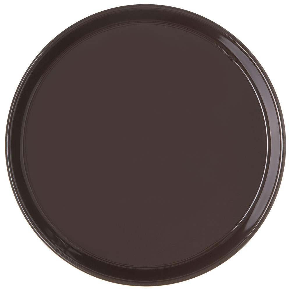 "Carlisle 130001 13"" Round Bar Tray - Brown"