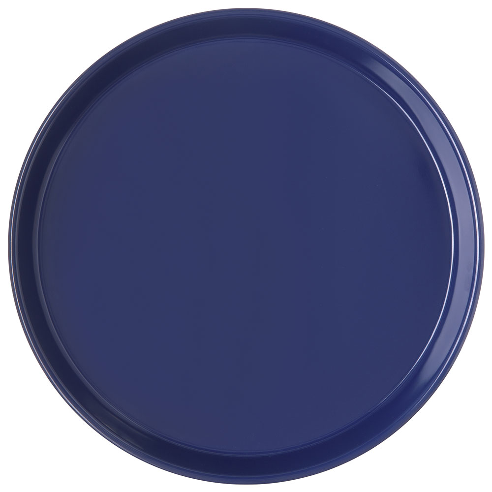 "Carlisle 130060 13"" Round Bar Tray - Cobalt Blue"