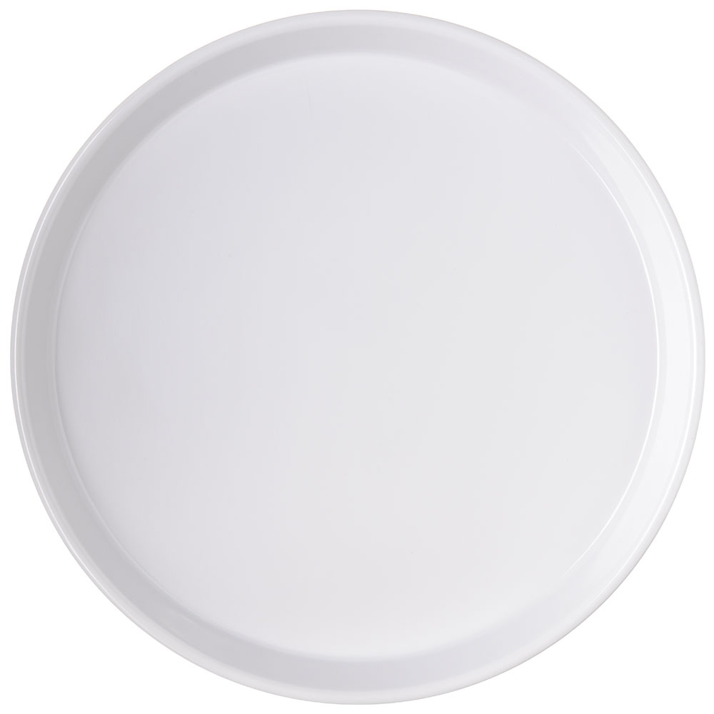 "Carlisle 130002 13"" Round Bar Tray - White"